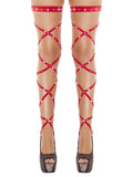 Women's Stockings Sexy  Bandage  Thigh-High Rhinestone Studded Leg Wraps Stocking - SexyHeksieLingerie