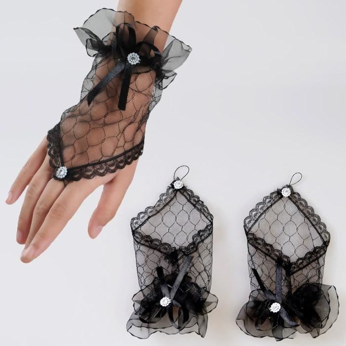 Girl's / Women's,Hand  Accessory,  Fingerless Gloves / Wedding Gloves M-LR15025-2 - sexyheksie