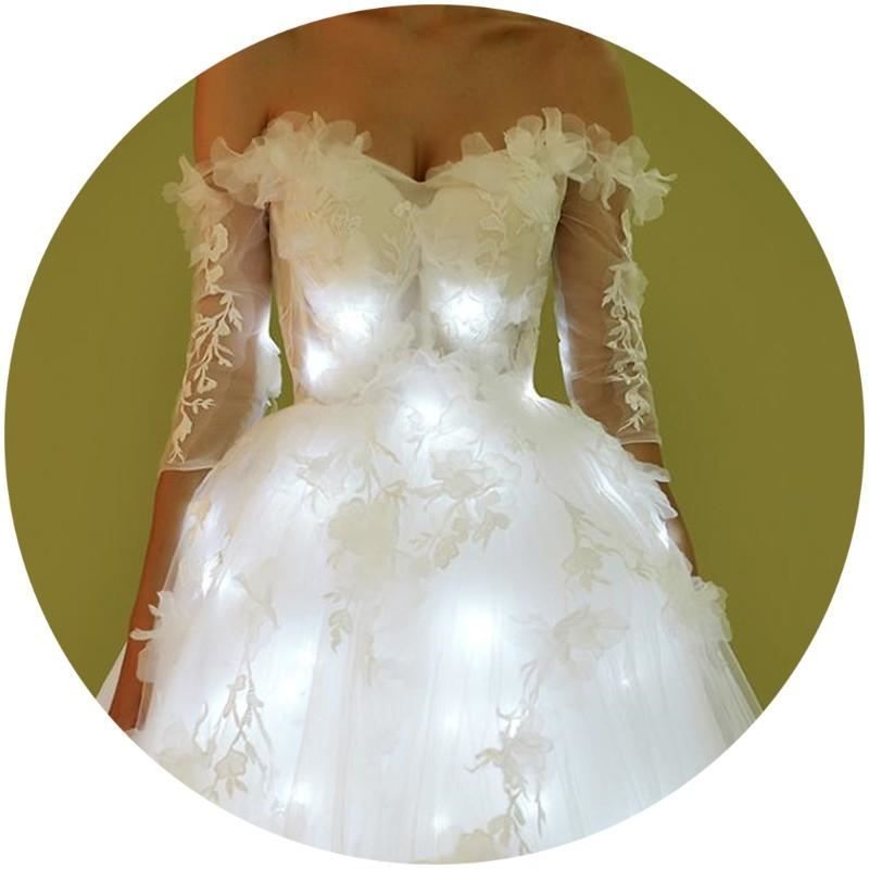 Luminous Wedding Dress Led Light Up  Performance Clothes  Flashing Party Dress Free Shipping DHL - sexyheksie