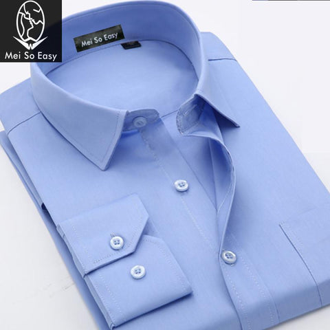 Extra large long-sleeve Shirt Men's high quality  Easy Care Male Plus size M-9XL