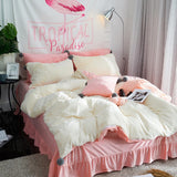 Velvet Fleece Bedding sets 4 or 5pcs Duvet Flannel Winter Warm Bed Linen Bedspreads Hairball style - SexyHeksieLingerie