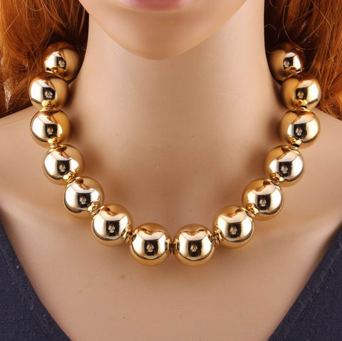 Fashion Chunky Metal Maxi Alloy Necklace for Girls - SexyHeksieLingerie