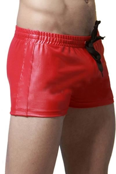 Size M Men's, PVC, Faux Leather, Swimwear, Boxer Short,Underwear H-LB60001 - SexyHeksieLingerie