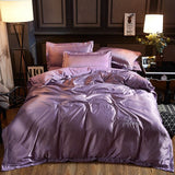 soft Washed Cotton Silk Tencel Ice Satin Silk Bedding Sets  Quilt/duvet cover Queen or King bed set - sexyheksie