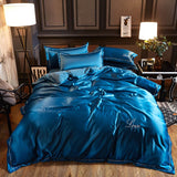soft Washed Cotton Silk Tencel Ice Satin Silk Bedding Sets  Quilt/duvet cover Queen or King bed set - SexyHeksieLingerie