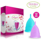 Blossom Menstrual Cups Set of Two (Small and Large)