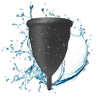 Large Black Blossom Menstrual Cup; Love it or your Money Back
