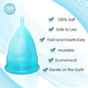 Small Green Blossom Menstrual Cup; Love it or your Money Back