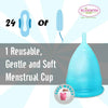 Small Blue Blossom Menstrual Cup; Love it or your Money Back