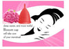 Small Red Blossom Menstrual Cup; Love it or your Money Back