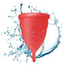 Large Red Blossom Menstrual Cup; Love it or your Money Back