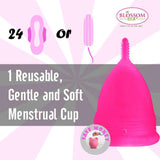 Small Hot Pink Blossom Menstrual Cup; Love it or your Money Back