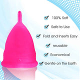 Large  Hot Pink Blossom Menstrual Cup; Love it or your Money Back