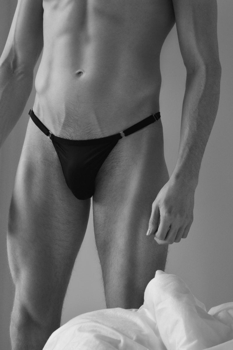 Brief with Adjustable Sides - Black