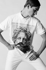 Apotheosis II - T-shirt, Portrait of Zeus - White