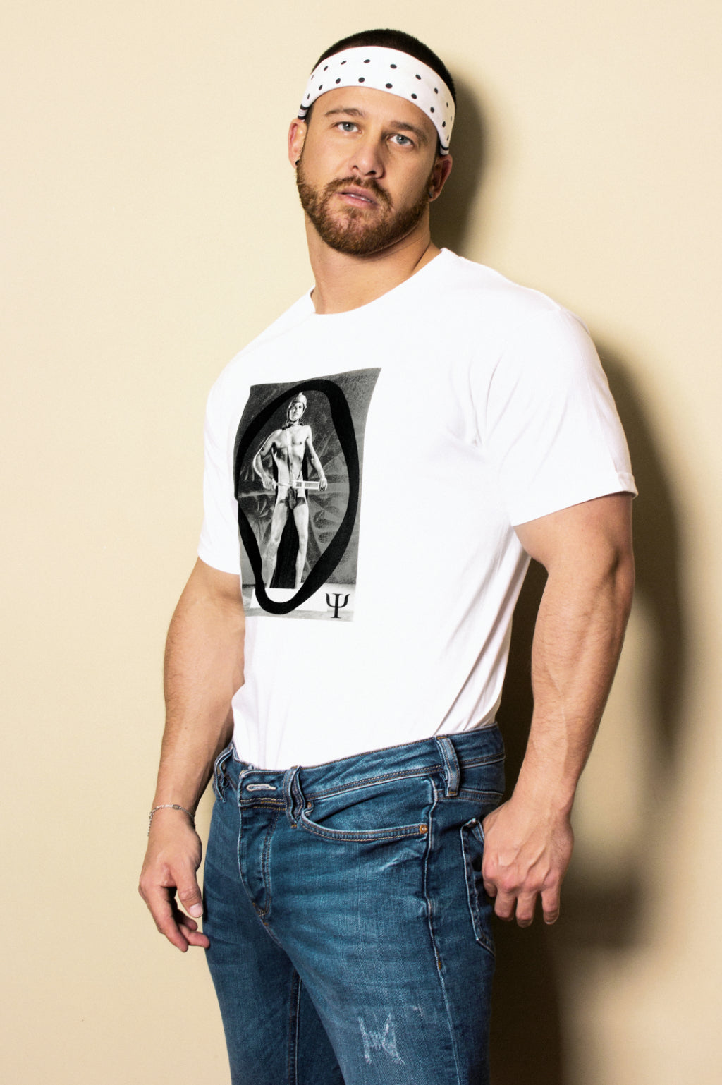 Warrior Boy Vintage Print T-shirt