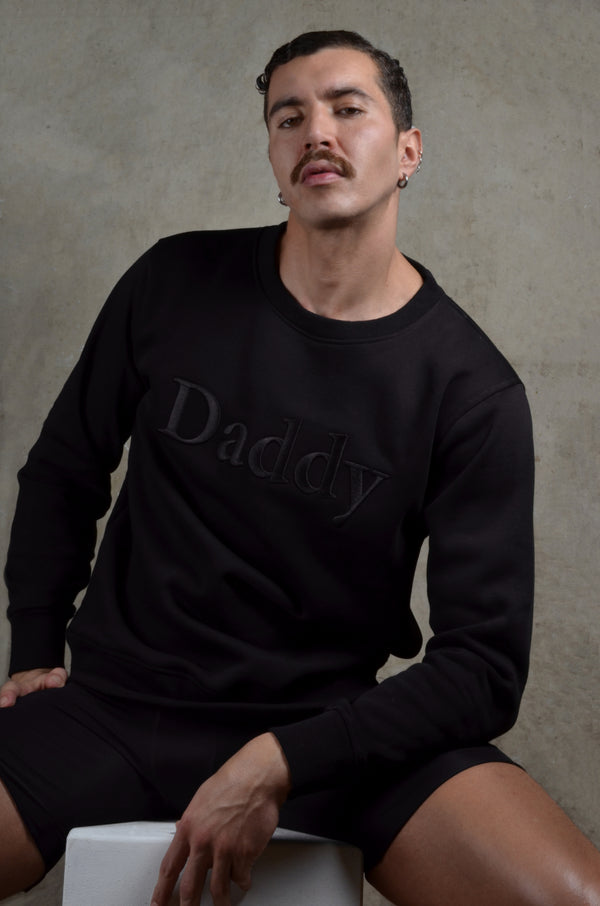 The Original Daddy - Sweatshirt - Black, High Quality Embroidered Application