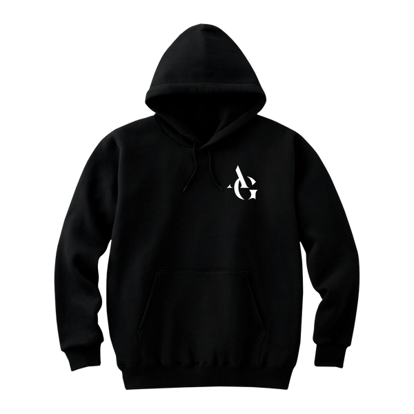MAYL Wear - Hoodie, Personalized Initials Letter - Black