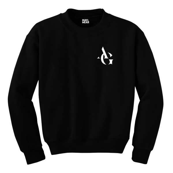 MAYL Wear- Sweatshirt, Personalized Initials Letter - Black