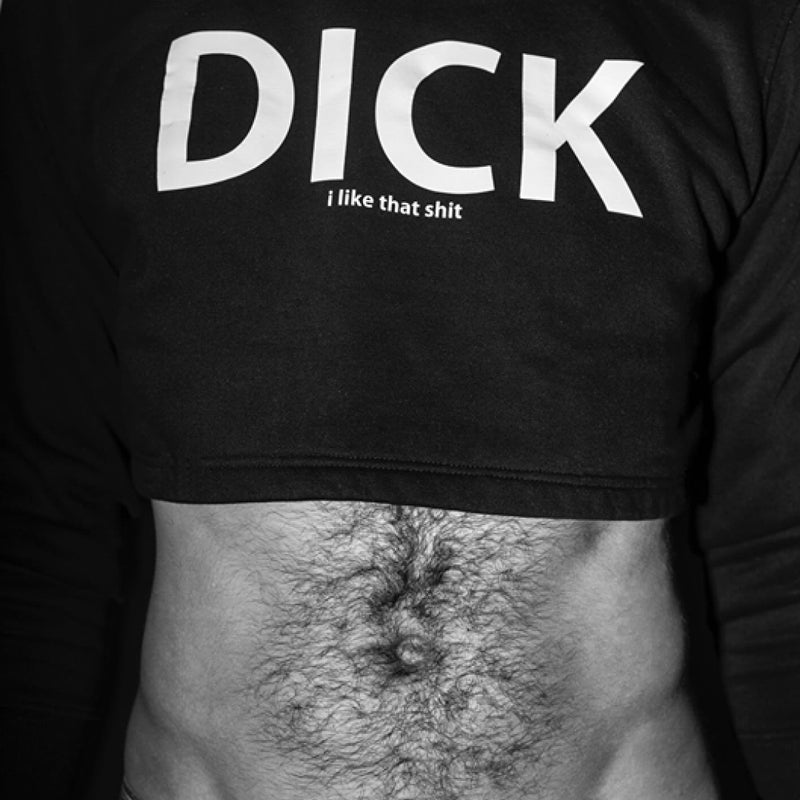 MAYL Wear - Cropped Sweatshirt, Dick, I Like That Shit - Black