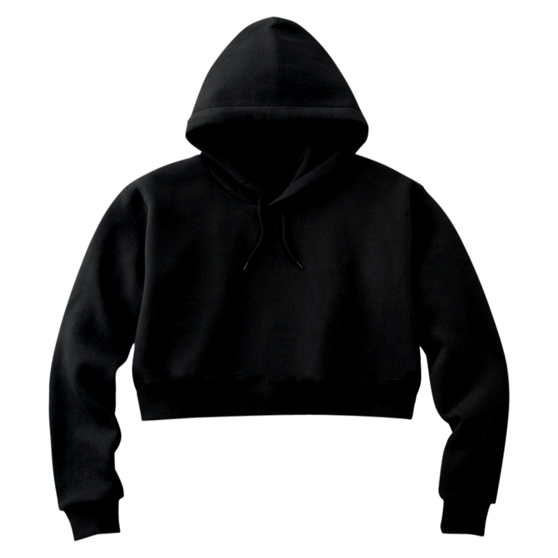 MAYL Wear Classic - Cropped Hoodie - Black