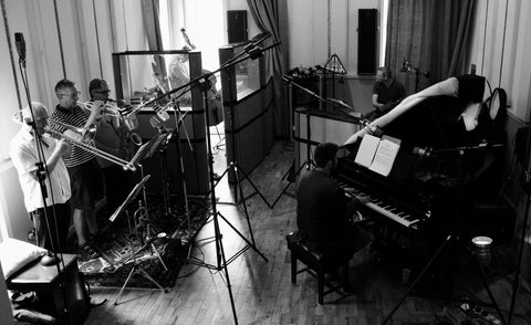 Aldevis Tibaldi London Jazz Ensemble, in the studio recording TwentySix Three
