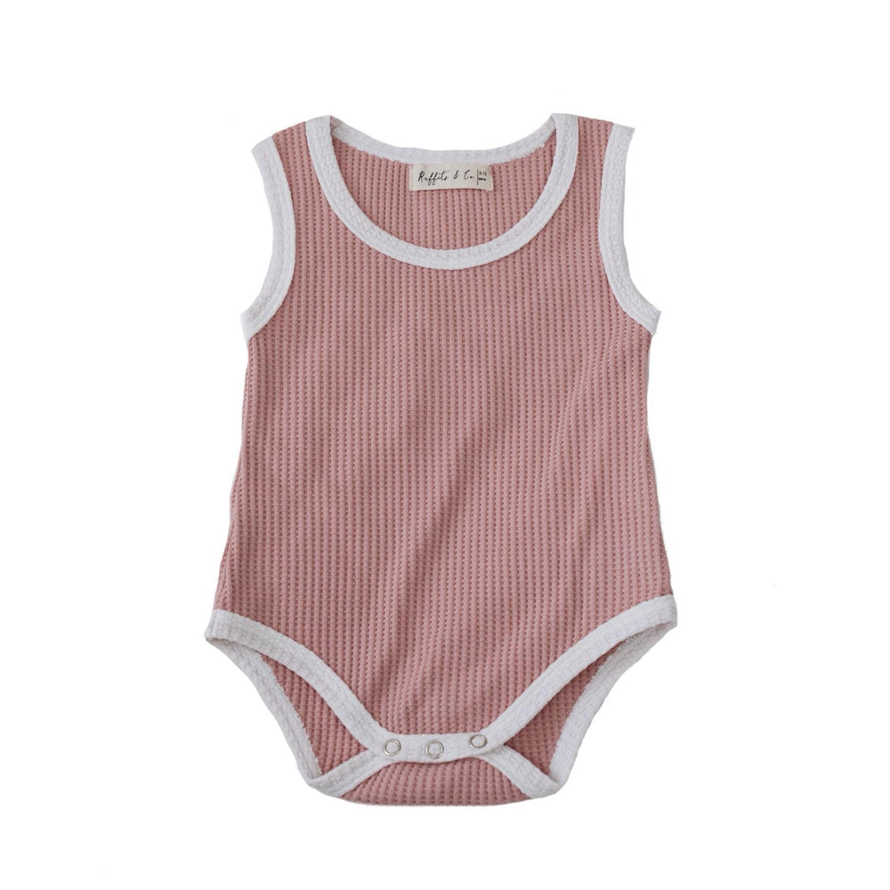 Ruffets and Co | Baby Grow - Cameo Pink
