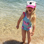 Cheeky Chickadee | Unicorn Girls Swimmers - Blue - Size 3-6m LAST ONE