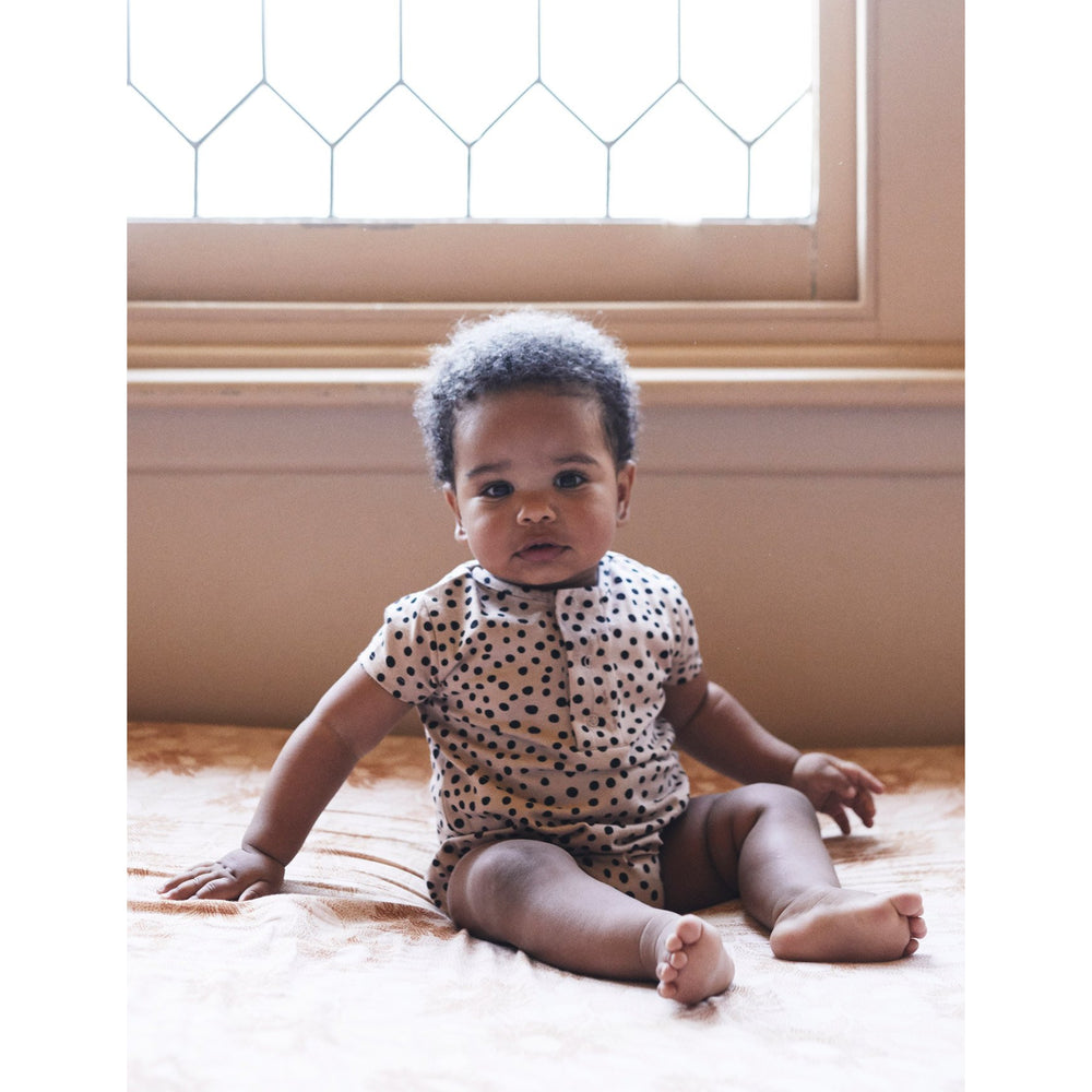 Huxbaby | Camel Freckle Bubble Onesie - Camel