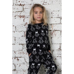 Hootkid | Lined Up Bats Sweater - Black - LAST TWO