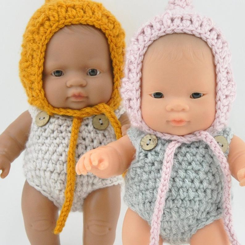 Przytullale | Knitted Overalls - fits 21cm doll