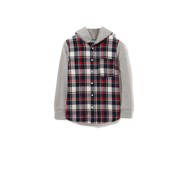 Milky | Blue Check Shirt - Size 6 LAST ONE