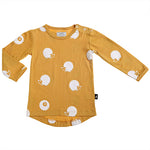 Anarkid | Hedgehog Long Sleeve Tee - Mustard - Size 00 LAST ONE