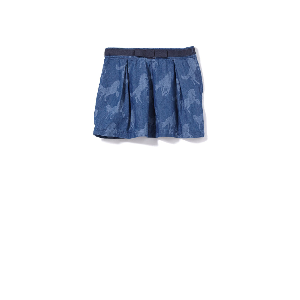Milky | Horses Denim Skirt - Size 3 LAST ONE