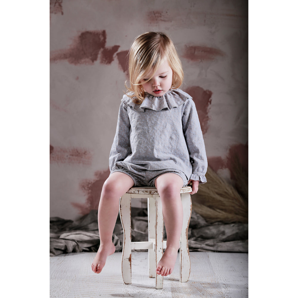 Anarkid | Vines Frill Neck Smock  - Glacier Blue