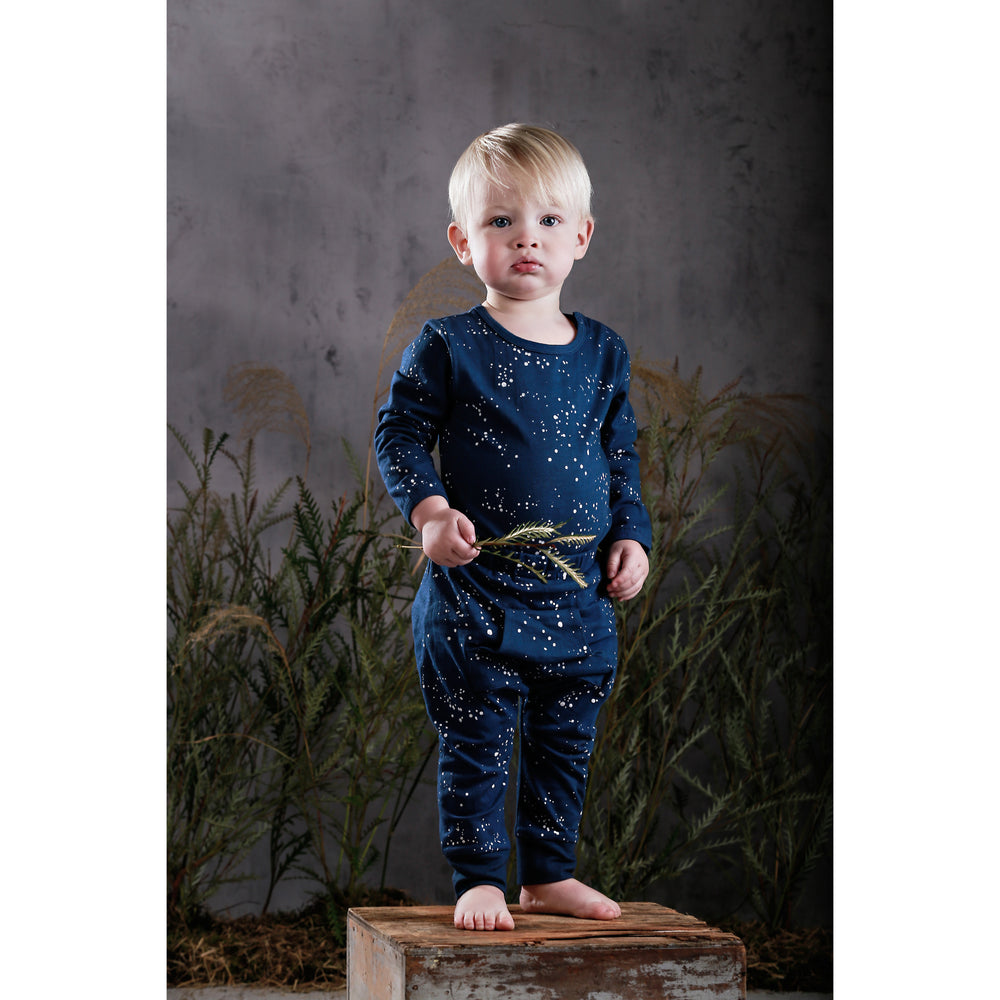 Anarkid | Night Sky Long Sleeve Bodysuit - Navy