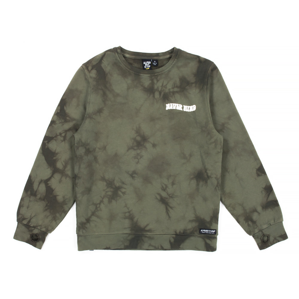 Alphabet Soup | Nevermind Crew - Tie Dye Green - Size 6 LAST ONE