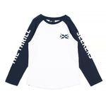 Alphabet Soup | Thrill Seekers Long Sleeve Tee - White/Midnight Blue - LAST ONE