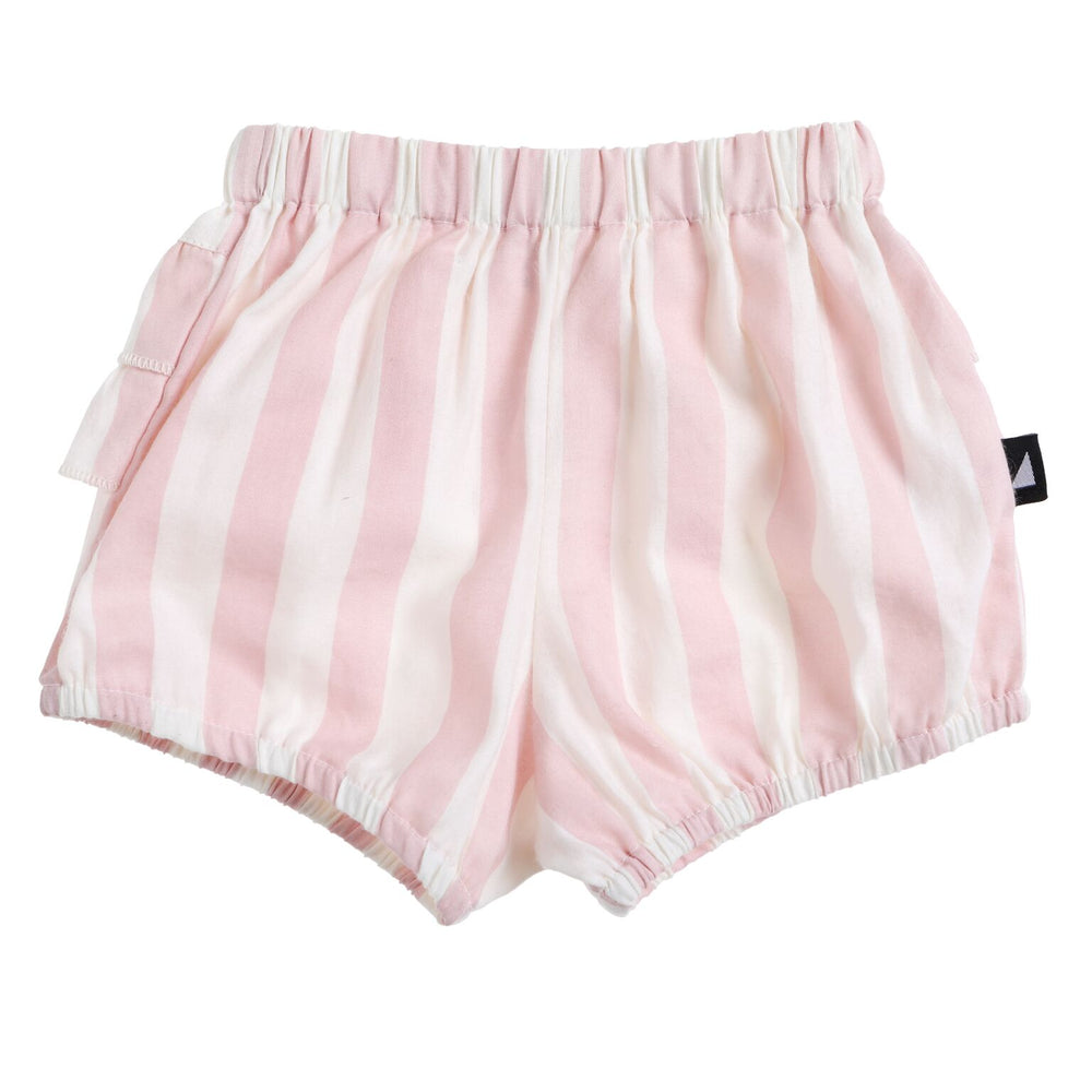 Anarkid | Block Stripe Woven Frill Bloomers - Blush - Size 2 LAST ONE