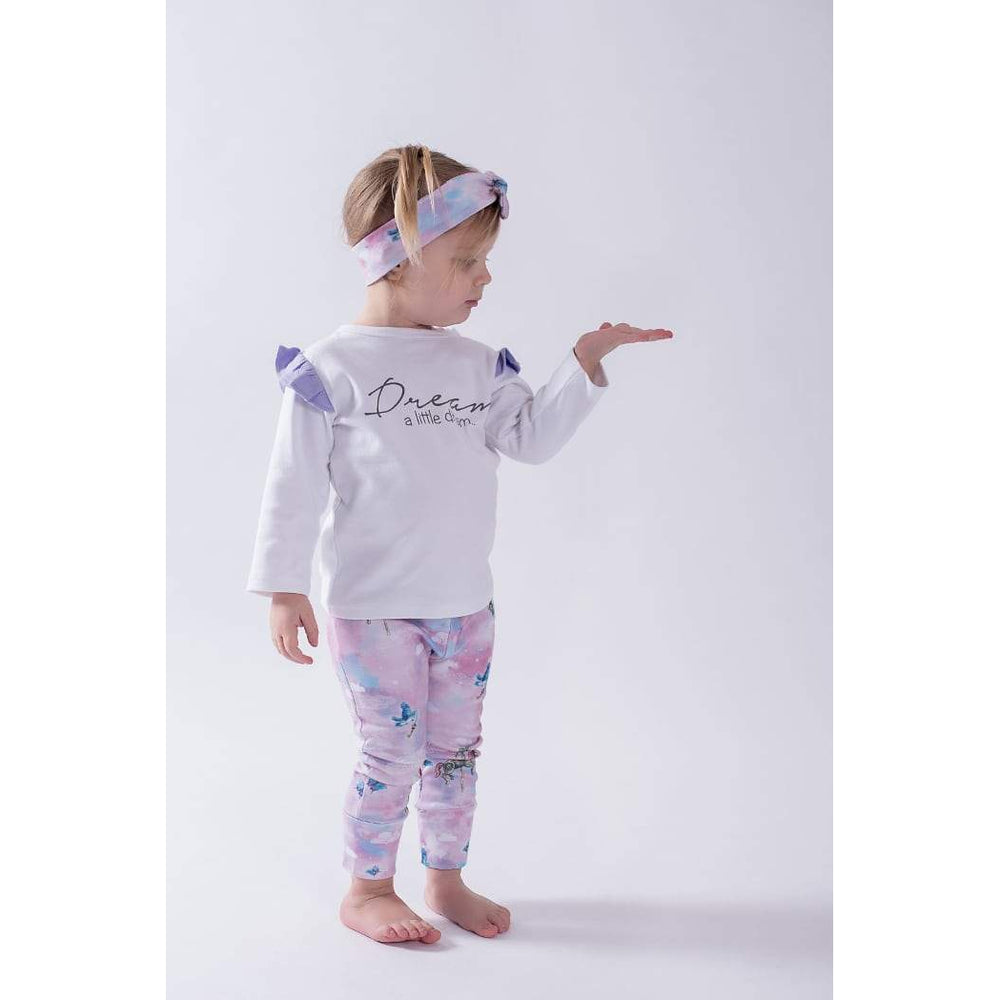 Aster & Oak | Dream A Little Dream LS Flutter Tee