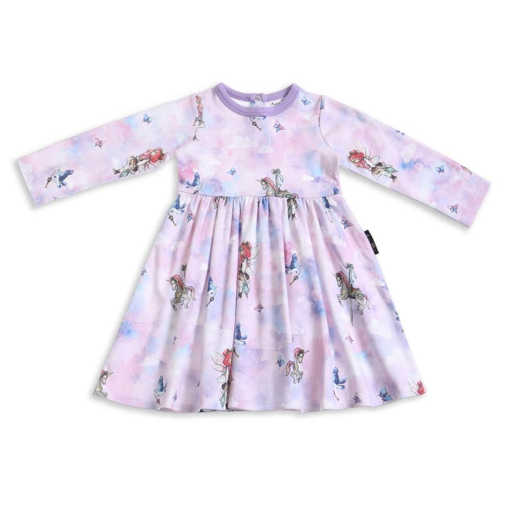 Aster & Oak | Unicorn & Fairy LS Flare Dress