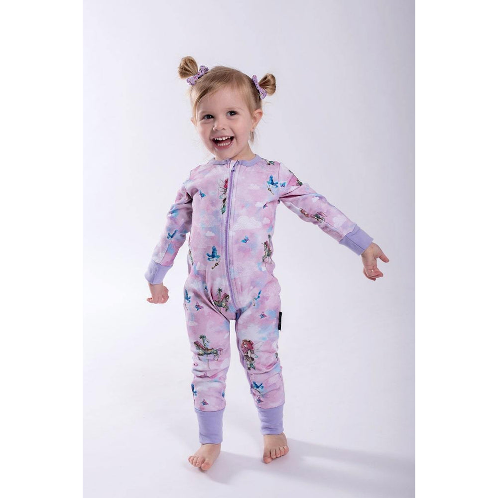 Aster & Oak | Unicorn & Fairy 2 Way Zip Romper