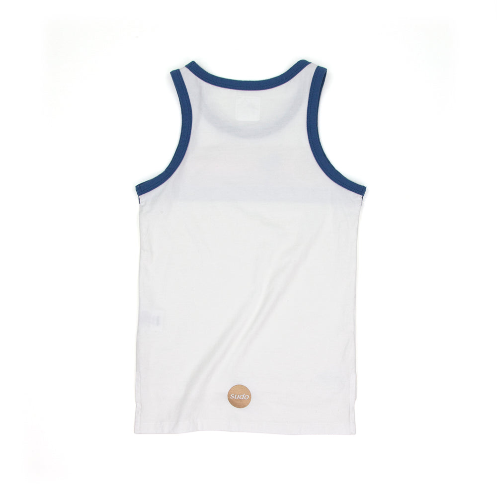 SUDO | Highway Singlet - Retro White - LAST TWO
