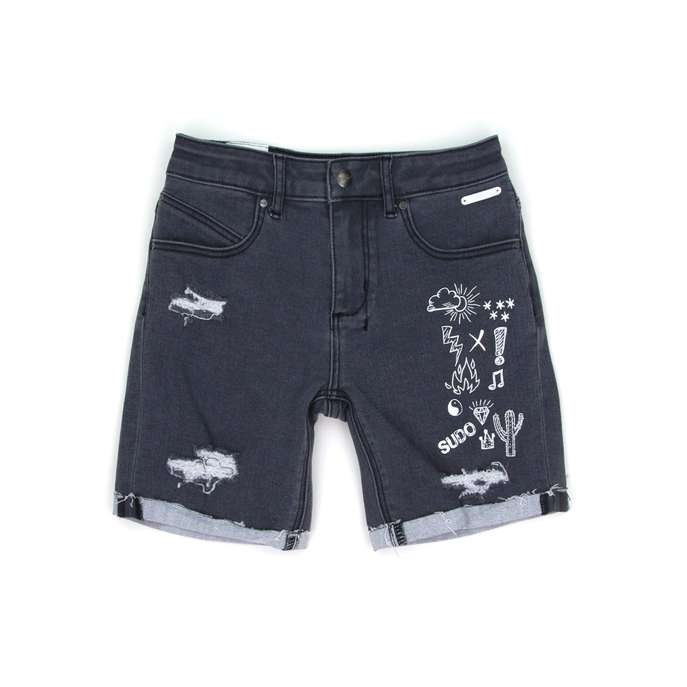 SUDO | Dawn Denim Shorts - Almost Black - LAST ONE