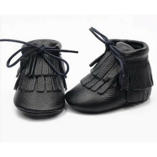 Little Strong Co. | Limited Edition Mocc Booties - Black - Size M LAST ONE