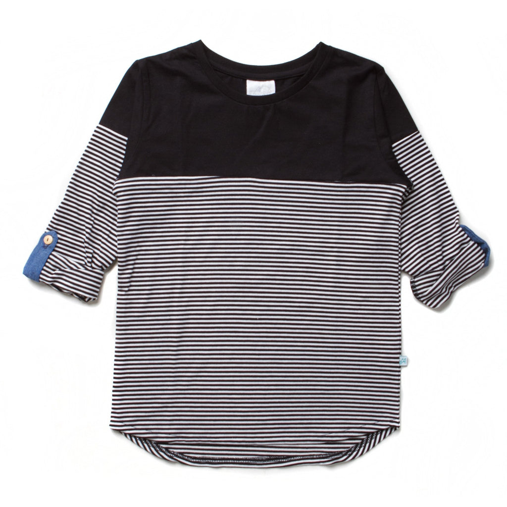 ALEX & ANT Black and White Stripe Tee
