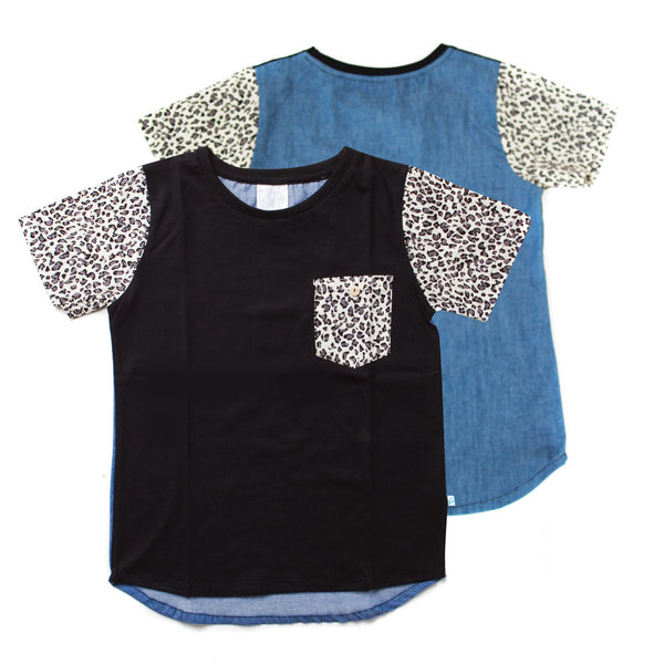 ALEX & ANT Leopard Tee - Size 7 LAST ONE