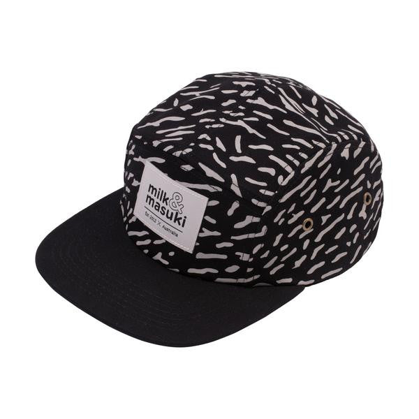 Milk & Masuki | Crackle Print 5 Panel Cap - LAST ONE