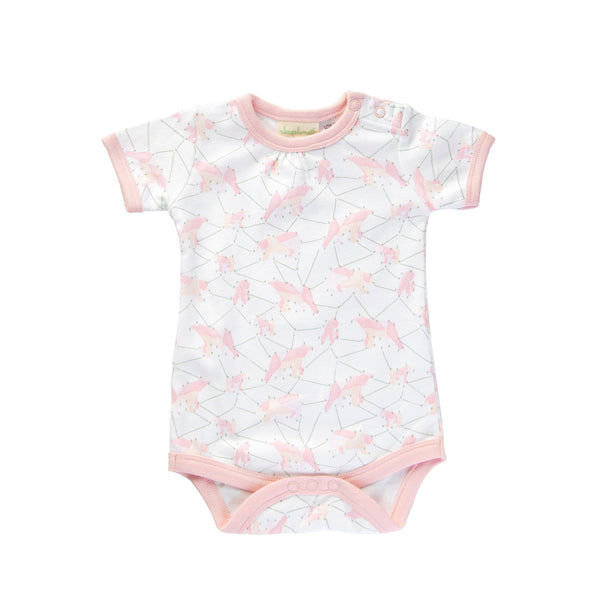 Jaime King for Sapling Child Organic | Galaxy Bear Pink Short Sleeve - Size 0-3 months LAST ONE