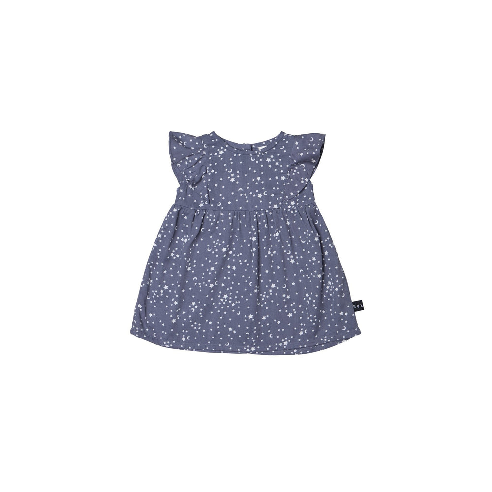 Huxbaby | Star Tencel Dress - Deep Blue